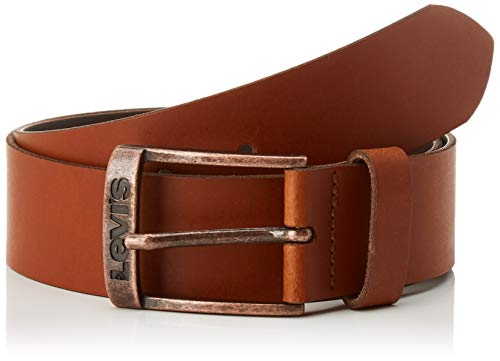 LEVIS FOOTWEAR AND ACCESSORIES New Duncan, Ceinture Homme, Marron (Dark Brown), 95 (Taille Fabricant:95)