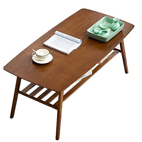 Actoor Rectangular Mesa de Café Mesa de Centro Tapa de Madera Doble Capa Fácil Montaje para Sala de Estar Oficina B,100×50×40cm