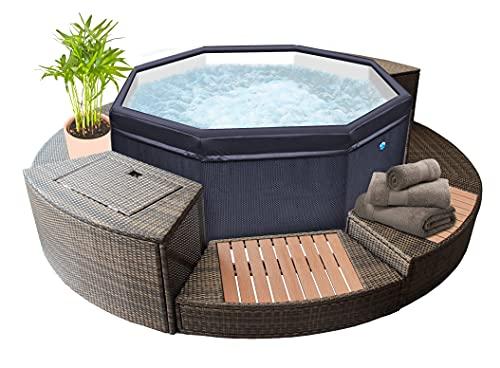 NetSPA Spa Octopus für 4 bis 6 Personen + Möbel 5 Elemente