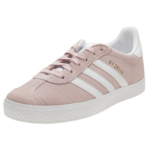 Adidas Gazelle C, Zapatillas de Running Unisex Niños, Multicolor (Ice Pink F17/Ftwr White/Gold Met. By9548), 35 EU