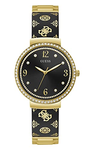 GUESS Women Quartz Watch with Stainless Steel Strap, Silver, 16 (Model: GW0252L2)