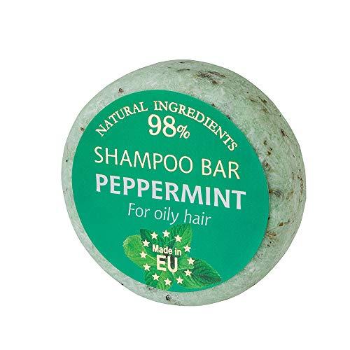 SAULES FABRIKA Duft Shampoo – Bar Naturkosmetik 100% Handmade natürliche Shampooseife handgemachte Haarseife 60g Haarwaschseife für alle Hauttypen (Minze)