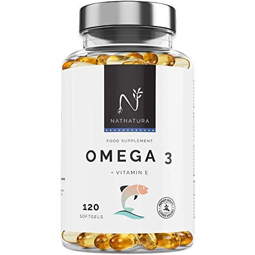 Omega 3+Vitamina E. Alta dosis de ácidos grasos Omega 3, 2000mg. Alta...
