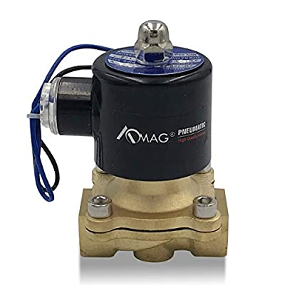 """1/2"""" NPT Brass Electric Solenoid Valve 24V DC Normally Closed VITON (Standard USA Pipe Thread). Solid Brass, Direct Acting, Viton Gasket Solenoid Valve by AOM838821X21"""