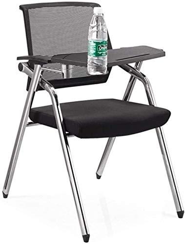 LIUBINGER Drehbarer Bürostuhl Folding Ergonomischer Büro-Schreibtisch-Stuhl High Back Mesh-Einstellbare Writing Board Computer Stuhl Tablet Arm Nesting-Stuhl