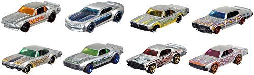 Mattel Hot Wheels FRN23 50th Anniversary Zamac Themed Sortiment, Spiel