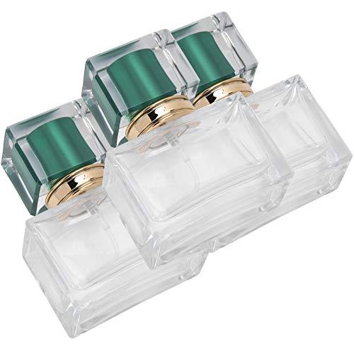 Botella de aceite esencial Botellas cuadradas de 30 ml para hombres y mujeres para viajes para bolso de bolsillo(green)