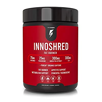 Inno Shred Thermogenic Fat Burner - Advanced Weight Loss Supplement, Appetite Suppressant, Energy Booster - 75mg Capsimax, Grains of Paradise, Organic Caffeine, Green Tea Extract - 60 Veggie Capsules