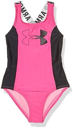 Under Armour Girls Big One Piece Swimsuit Bubble Gum sp20 10 product image