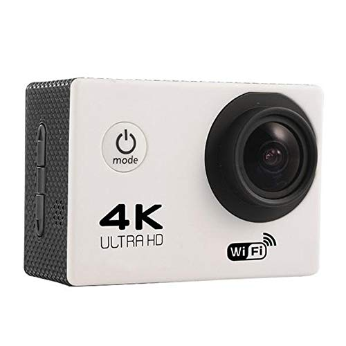 DERTHWER Sports Cameras, Sport Action Camera 4K WiFi Allwinner V3 Chipset OV4689 16.0MP HD Image Sensor Black Stable and Smooth Picture (Color : Gray, Size : One Size)