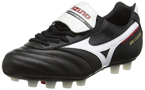 Mizuno Herren MRL Classic Md Fußballschuhe, Mehrfarbig (Black/White/red), 44.5 EU
