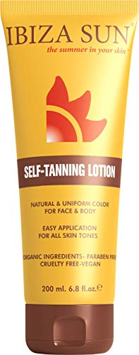 Self Tanner - With Organic Aloe Vera & Paraben Free, Sunless Tanning Lotion and Bronzer for Face & Body, Natural Looking Fake Tan, Self Tanning lotion