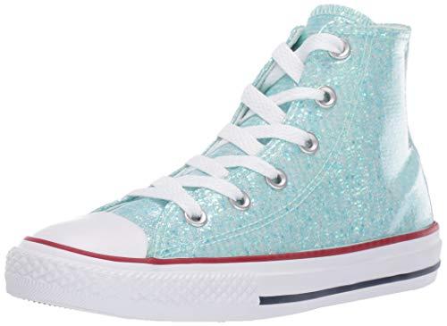 Converse Unisex-Kinder Chuck Taylor All Star Hohe Sneaker, Türkis (Teal Tint/Enamel Red/White 000), 38.5 EU
