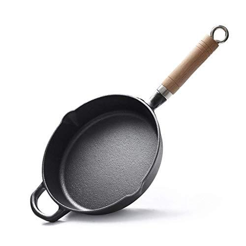 YEESEU Cocinar la Cacerola - Sartén de Hierro Fundido cookingware 22cm Mango...