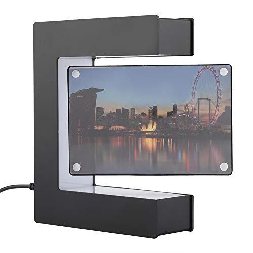 Marco de la Foto de la levitación magnética del LED, decoración de la Boda del Marco de la Foto de la levitación magnética del Ministerio del Interior(US-Negro)