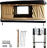 DANCHEL OUTDOOR Roof Top Tent for Camping 2-3 Person Hard Shell Pop Up Tent for SUV Trucks Overland Travel (Black Khaki)