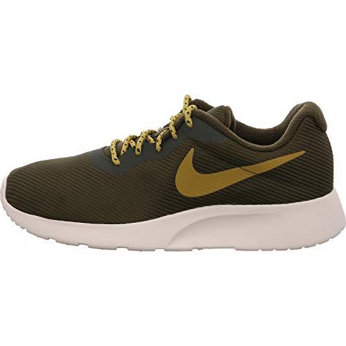 Nike Herren Tanjun Se Laufschuhe, Mehrfarbig (Sequoia/Golden Moss-Volt-Light Bone 300), 44 EU