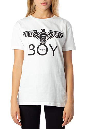 Boy London T-Shirt Donna Jersey g/c m/m con Stampa bld2045 s Panna