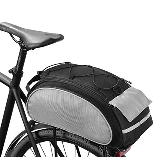 ROSWHEEL Cycling Bag Bicycle Basket, Mountain Bike Pannier Downhill Rack Trunk Shoulder Handbag Bicycle Backpack Black 13L - Black