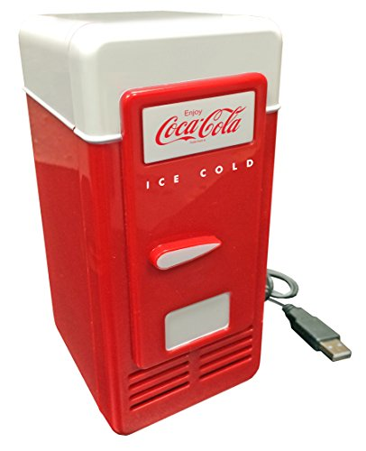 Koolatron CCRF01 CCRF-01 USB-Powered 1 Can Mini Retro Cooler, Red