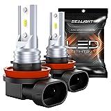 SEALIGHT H11 LED Fog Lights Bulbs DRL 4800 Lumens 6000K Xenon White H16 H8 LED Fog Lamps High Power 12 CSP Bulbs Replacement for Cars, Trucks Pack of 2