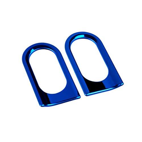 2 piezas de acero inoxidable cuerpo señal de giro cubierta decorativa para Mercedes para Smart 453 Fortwo Car Styling pegatinas modificadas accesorios accesorios de coche (color: azul)