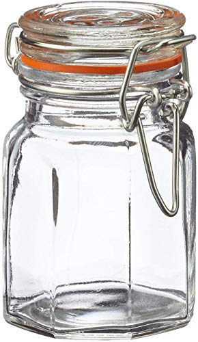 Apollo - Tarro de Cristal para Especias (Cierre de Bridas, 12 Unidades)
