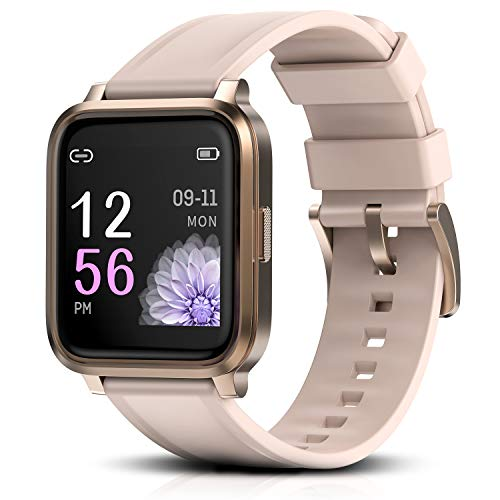 RTAKO Smart Watch Compatible with iPhone Android, Fitness Tracker Watch with Heart Rate Monitor Blood Oxygen Meter, IP68 Swimming Waterproof Smartwatch for Men Women Phones DIY Clock Faces Pink
