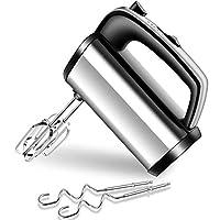 sbattitore elettrico da 300 w con 3 velocità e 2 fruste in metallo e 2 ganci di fruste ganci in acciao, impastatrice professionale per impasti/uova/dolci