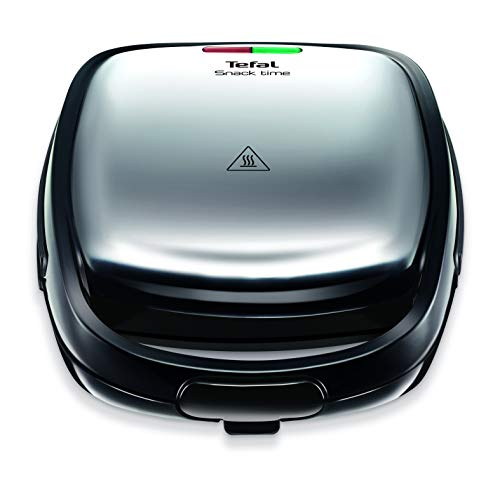 Tefal Snack Time SW341D40 Sandwich and Waffle maker, Stainless steel