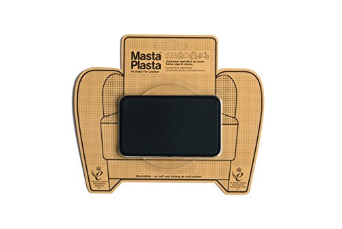 MastaPlasta Leder-Reparaturflicken, selbstklebend, SCHWARZ Wählen Sie Größe/Design. Erste Hilfe für Sofas, Autositze, Handtaschen, Jacken usw