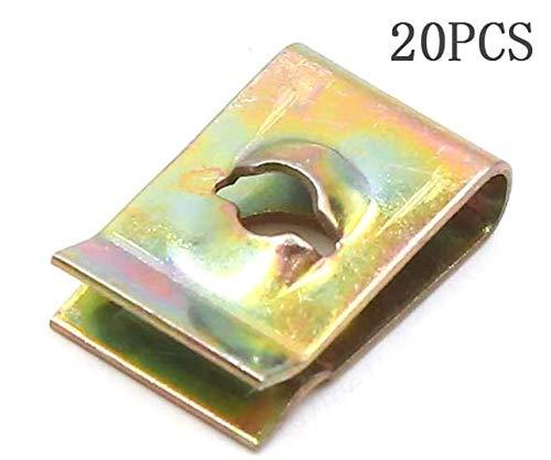 20 Stücke 17x11x5mm 3mm Metallnieten Loch Federteller Schraube U-Typ Clip Niet