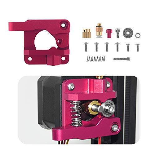 Aibecy MK8 Extruder verbeterde vervanging metalen blok remote drive-feed-extruderkit voor 1,75 mm filament voor Creality Ender 3 CR-10 CR-10S CR-10S4 CR-10S5 3D-printer Rot-Linke Hand