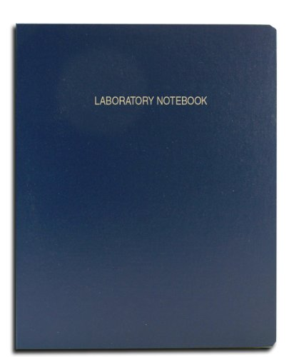 "BookFactory Economy Blue Lab Notebook - 96 Pages (Grid Format) 8 7/8"" x 11 1/4"" Flexible Blue Cover Laboratory Notebook (E-LIRPE-096-LGR-A-LBT1)"
