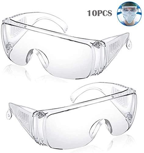 BDSMAGE Beschermende Goggles Anti Fog Veiligheidsbril Spittle Clear Eye Protection Veiligheid Werk Bril Over Spectacles Zachte Wraparound Oogkleding Impact Schokbestendig Stof-Proof Ademende Bescherming