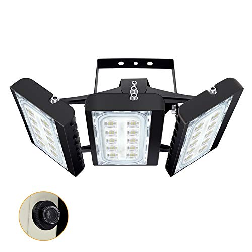 STASUN 13500lm Dusk to Dawn LED Flood Light, 150W Outdoor Lighting with Photocell, 6000K, OSRAM LED Chips, IP66 Waterproof Wide Lighting Angle Security Lights for Yard, Garden, Playground, Parking Lot
