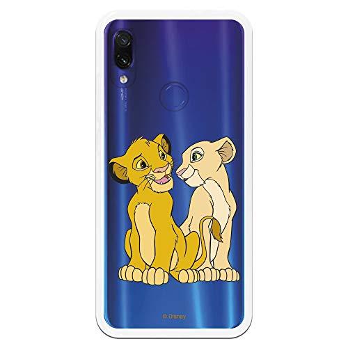 Funda para Xiaomi Redmi Note 7-Note 7 Pro Oficial de El Rey León Simba y Nala Silueta para Proteger tu móvil. Carcasa para Xiaomi de Silicona Flexible con Licencia Oficial de Disney.