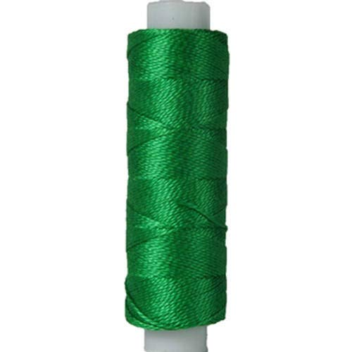 Threadart Pearl Cotton Thread | 75yd Spools Size 8 | Perle Cotton for Friendship Bracelets, Crochet, Hardanger, Cross Stitch, Needlepoint, Hand Embroidery | Color 699 - GREEN - 40 Colors Available