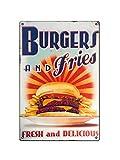 Boggevi Kells Retro Deko Vintage Metallschild Burger und
