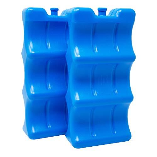 ToCi 2-delige set flessen koelelementen, 2 blauwe koelelementen voor koeltas, koelbox, tas of rugzak