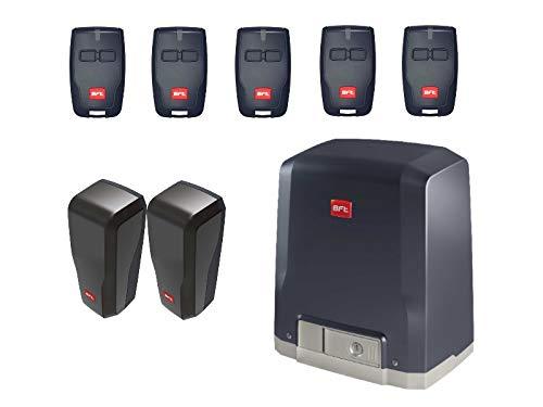 BFT DEIMOS KIT (DEIMOS AC A600 motor con unidad de control integrada + 5 X RCB02 transmisores + DESME A15 par de fotocélulas) para el accionamiento de puertas correderas de hasta 600 kg