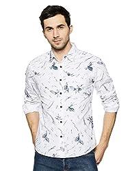 Spykar Mens Printed Slim Fit Casual Shirt