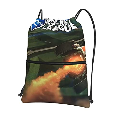 Rocket League - Mochila con cordón para gimnasio, mochila escolar, de polietileno, para natación, de viaje, para niños, niñas, hombres y mujeres
