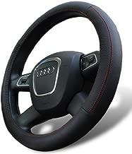D8 Leather Steering Wheel Cover for Volkswagen GTI Golf Jetta Passat Routan Tiguan Touareg