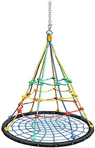 PIAOLING Kinderschaukel Farbe Vogelnest Schaukel Indoor Outdoor Schaukel Schaukel Kindergarten Frühes Lernzentrum Spielzeug