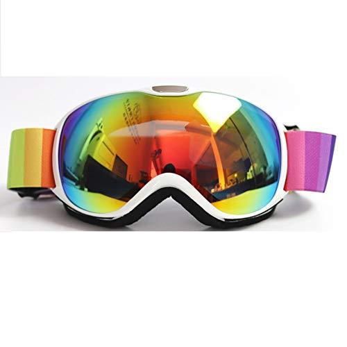 HONCENMAX Kinder Skibrille Ski Snowboard Brille Brillenträger Schneebrille Verspiegelt - Für Kinder Jugend Jungen Mädchen - OTG UV-Schutz Anti Fog Verbesserte Belüftung