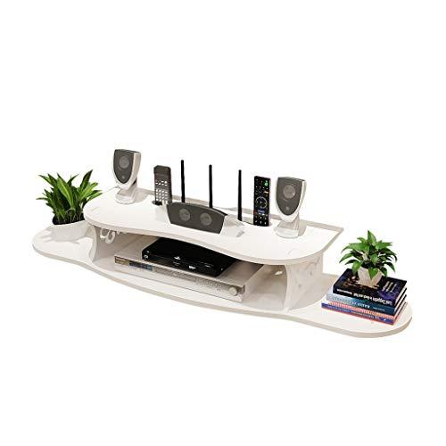 JIE KE Estante de pared multifunción Soporte estante de moda de carga TV Box colgante caja de almacenamiento Router Rack impermeable y a prueba de humedad creativo decorativo caja de almacenamiento