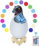 AmazeFan Dinosaur Night Light, Dinosaur Lamp with 16 Colors, Remote Control & Pat & Touch, Dinosaur Toys for Kids, Boys, Girls, Baby, Best Christmas Birthday New Year Gifts