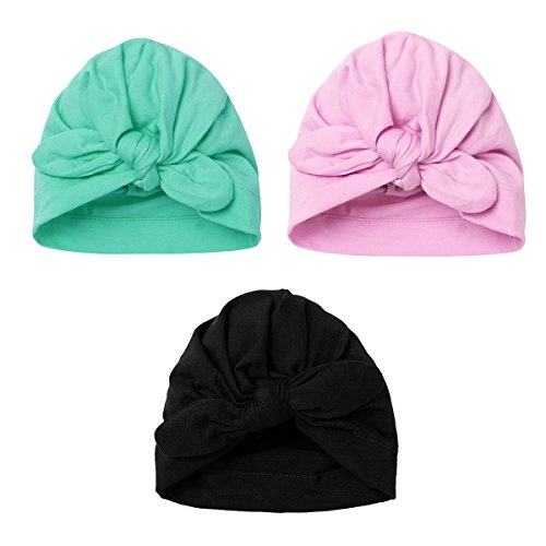 Iiniim–3pezzi neonato ragazzi ragazze Beanie morbido nodo coniglio ospedale cappello -  -  taglia unica