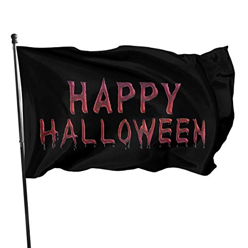 AOOEDM Happy Halloween 3 Flag 3x5 Feet Tough Durable Colorfast Flag Indoor/Outdoor Polyester Flag Garden Office Flag Decorate